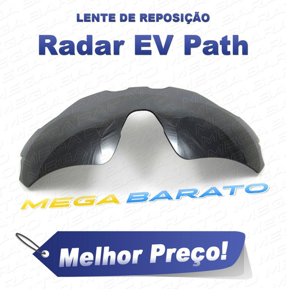 Lente Óculos Radar Ev Path Preta Black Chrome Polarizada