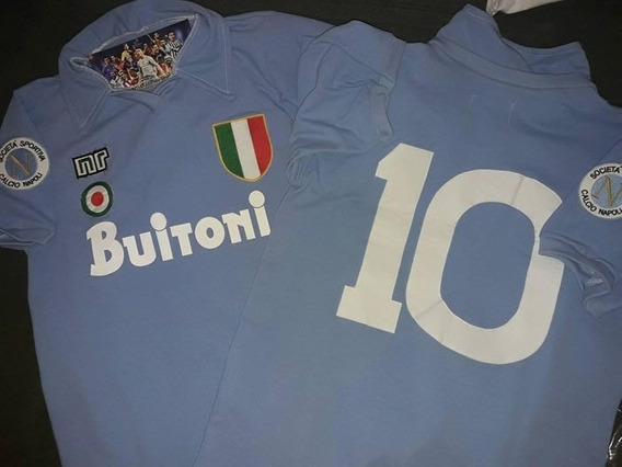 Camiseta Retro Napoli Maradona Mars Buitoni Cirio