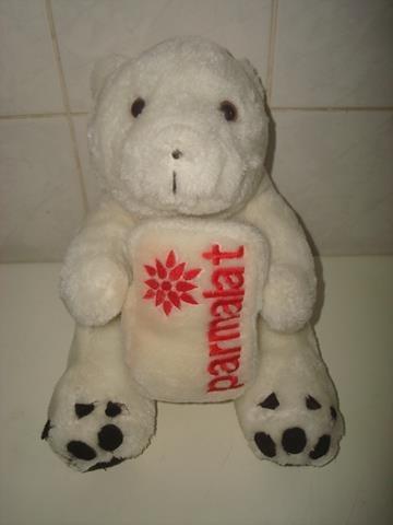 Urso Polar Branco De Pelúcia Da Coleção Parmalat - R$ 25,00