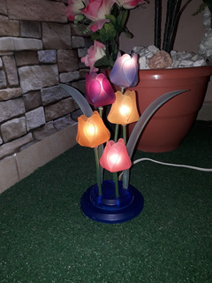 Decoración Lampara Tulipanes Luminosos Talla 29 Cm. Alto