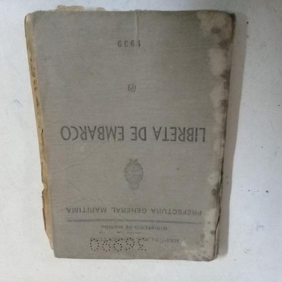 Libreta De Embarco 1939 (microcentro)