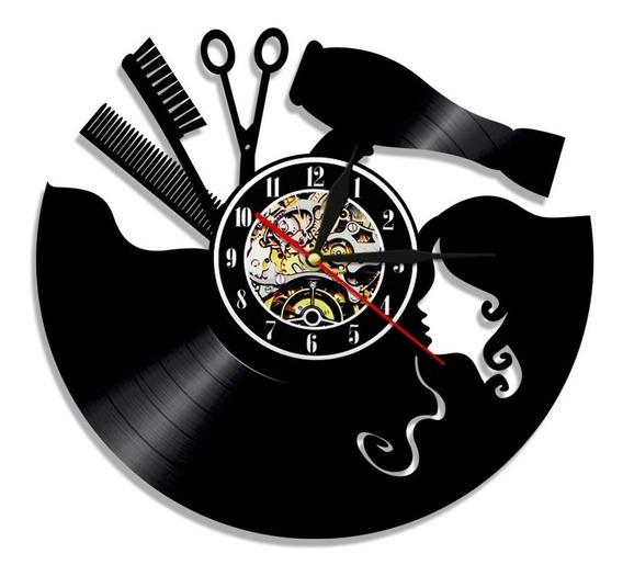 Relógio De Parede, Disco Vinil, Salão De Beleza, Decoração 2