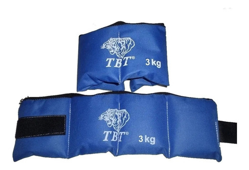 Tobillera Con Peso 3 Kg Gym Rerforzadas Regulables X Par