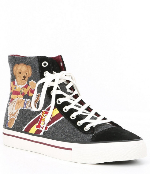 Tenis Polo Raph Lauren Kicker Bear Solomon Sneakers Original