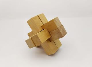 Rompecabezas 3d En Madera Color Natural Puzzle Montoy
