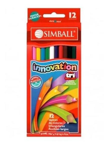 Lapiz Simball Innovation X 12 Lapices Color Largos