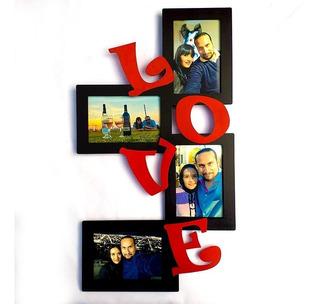 Porta Retrato Love 4 Fotos Incluidas