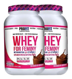 2x Whey Protein For Feminy C/ Colágeno 907g - Profit Labs