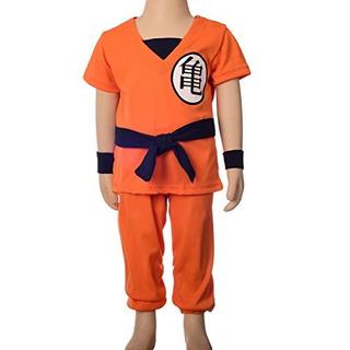 Disfraz D Dragon Ball Halloween Niño Naranja Importado U S A