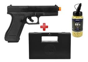 Pistola Airsoft Spring Kwc Glock G7+case Maleta+bbs Action-x