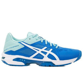 8eb46dd3456 Tênis Asics Gel Solution Speed 3 Azul E Verde Água