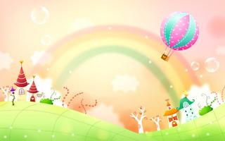 Painel De Festa Arco Iris Terra Encantada Mágica Balão