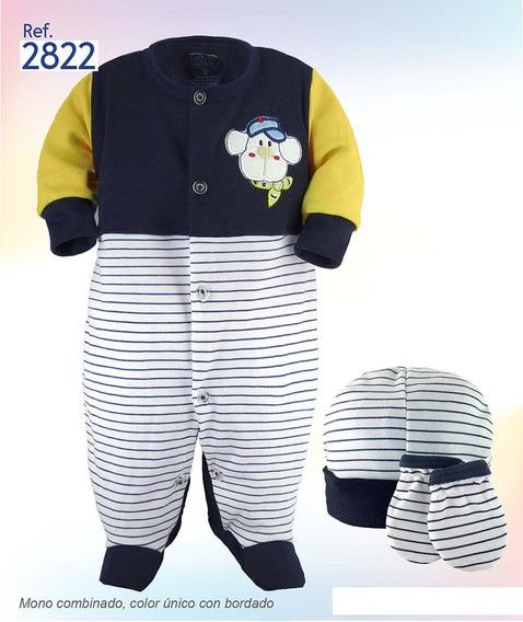 Mono Con Gorro Y Manoplas Ropa De Bebé Recien Nacido R2822