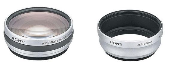 Lente Conversão Grande Angular Sony Vcl-deh07v, 52 Milímetro