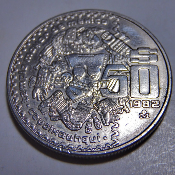 Moneda Mexicana De 50 Pesos Del Año De 1982.