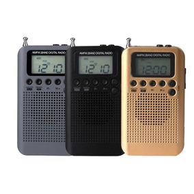 Recarregável Am Fm Digital Portátil Rádio Bolso E Fone De Ou