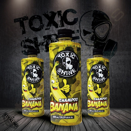 Imagen 1 de 6 de Toxic Shine | Banana Armour Gloss | Shampoo | 600cc