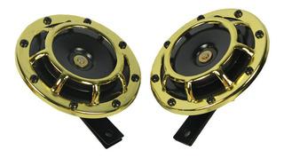Parrilla De Tono Oro Montaje 12v Compacto Bocina 335hz/400hz