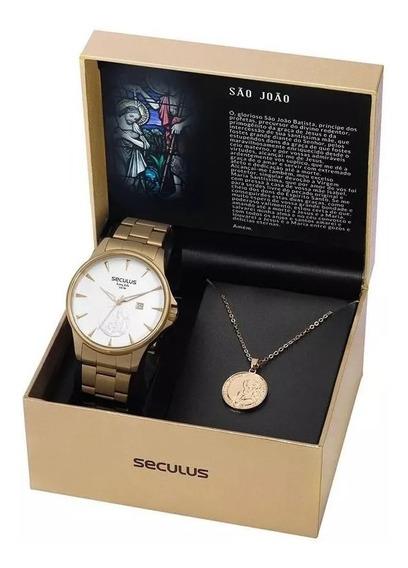 Relógio Seculus Kit São João 35015gpskda1k1 C/ Nf