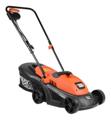 Cortador de grama elétrico Black+Decker GR3000 com cesto recolhedor 1000W laranja e preto 120V