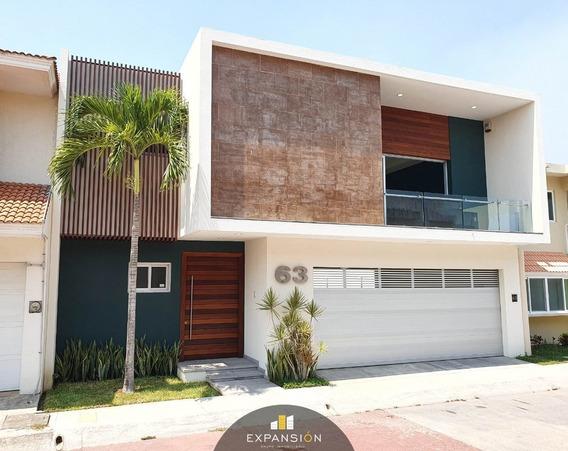 Casa En Venta 3 Hab Con Acabados De Lujo. Las Palmas, Boca Del Río, Ver.