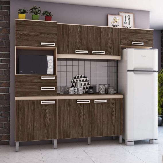 Cozinha Compacta Com Tampo 7 Portas 2 Gavetas Jasmine Gh