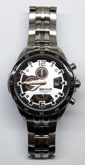Relógio Seculus Masculino Chronograph 20118gpssra1