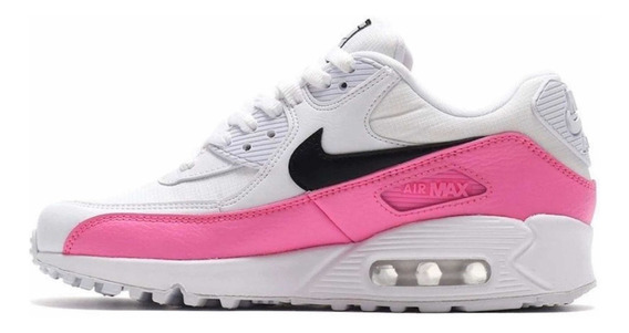 Tenis Nike Air Max 90 Essential Blanco C/ Rosa
