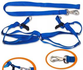 10 Coleiras Peitoral Ajustável Nylon N.03 Médio Azul
