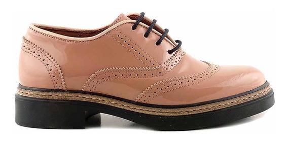 Zapato Cuero Mujer Briganti Abotinado Goma - Mccha2952 Ch
