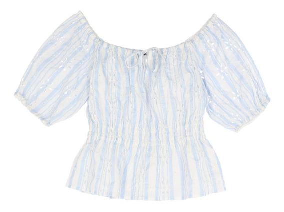 Blusa Casual De Mujer C&a Manga Corta Con Estampado