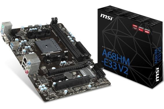 Motherboard Msi A68hm-e33 V2 Amd Apu Fm2+ A68 3
