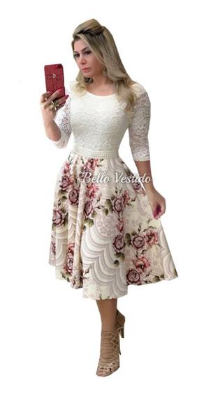 Vestido De Noiva Manga 3/4 Casamento Civil Moda Evangélica