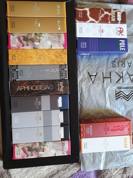 Kit Com 15 Unidades Masc E Fem. Perfume 15ml Amanka Paris