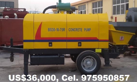 Bomba De Concreto Nueva 2019, 30 M3/hr