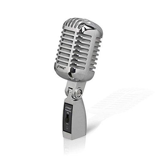 Microfono Xlr Pdmicr42bk Retro Vintage Dynamic Plata