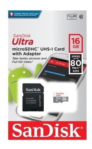 Cartão De Memória Micro Sd 16gb 80 Mb/s - Sandisk