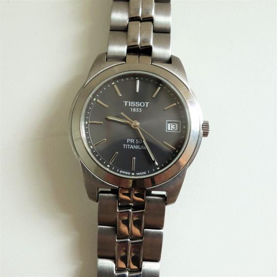 Relógio Tissot Titanium Pr50 Safira - N É Seiko Victorinox