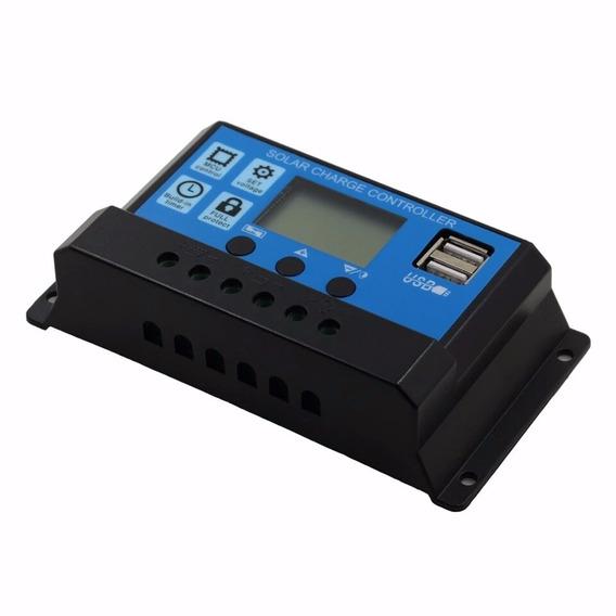 Controlador De Carga Solar Pwm 30a Com Lcd