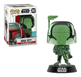 Funko Pop Star Wars Boba Fett (green Chrome) Summer Conventi