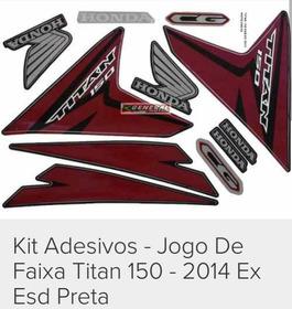 Kit Adesivo Titan 2014 Preta