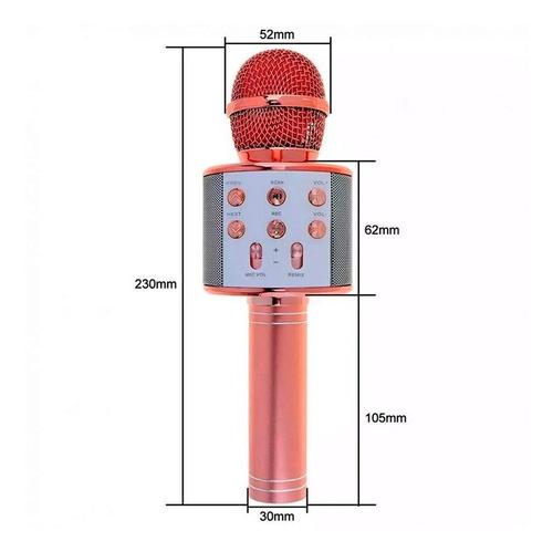 Imagen 1 de 10 de  Micrófono Parlante Inalámbrico Bluetooth Karaoke Ws-858 New