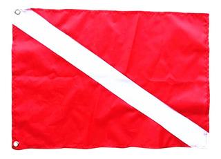 Gran Buzo Abajo Bandera Señal De Seguridad Señal Bandera