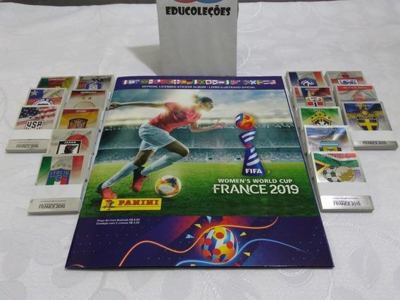 Album Figurinhas Copa Do Mundo Feminina 2019 Completo/colar