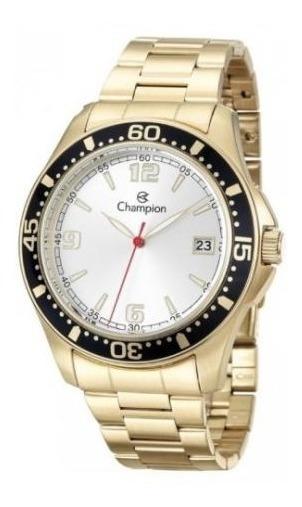 Relógio Champion Masculino Dourado Aço Ca31248h