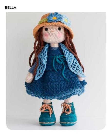5 Patrones Muñecas Amigurumis Crochet- Español X5 +2 Reg.