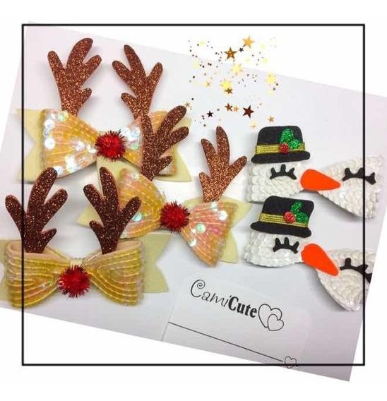 Lazos De Navidad Niñas Ganchos Oferta Lentejuelas Y Cintas