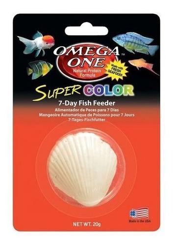 Alimento Vacacional Super Color Fish Feeder Omega One 7dias