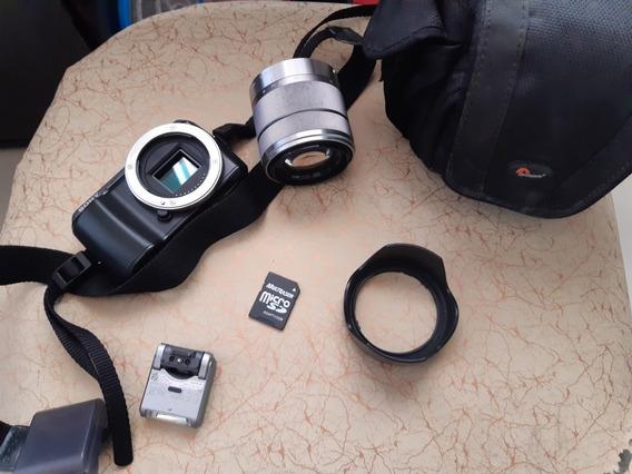 Câmera Sony Alpha Nex-c3 / 16.2 Mp / Lcd 3.0 / Lente 18-55