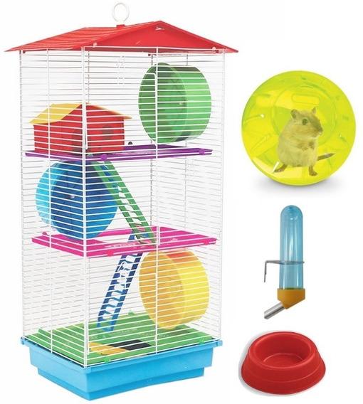 Gaiola Hamster 3 Andares Russo Chines Gerbil Sirio Casinha